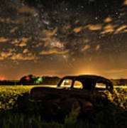 Car And The Milky Way Art Print
