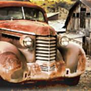 Car Full Of Memories, Ghost Town, Jerome, Arizona Art Print