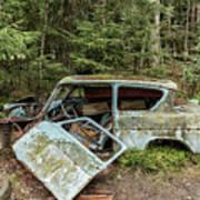 Car Graveyard In Smaland Art Print