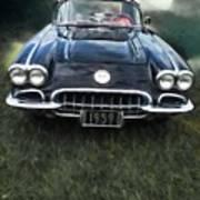 Car On The Grass Art Print