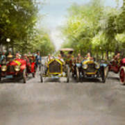 Car - Race - Hold On To Your Hats 1915 Art Print