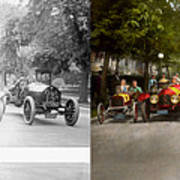 Car - Race - Hold On To Your Hats 1915 - Side By Side Art Print