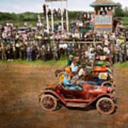Car - Race - On The Edge Of Their Seats 1915 Art Print