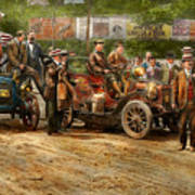 Car - Race - The End Of A Long Journey 1906 Art Print