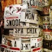 Car Tags Art Print