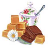 Caramel Chocolate Art Print