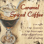 Caramel Spiced Coffee Art Print