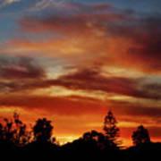 Caramel Sunset Art Print
