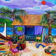 Cara's Island Time Art Print by Patti Schermerhorn