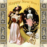 Card New Year Wishes Art Print