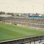 Cardiff - Ninian Park - South Stand Grange End 1 - August 1991 Art Print