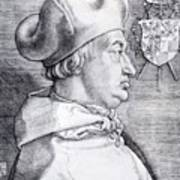Cardinal Albrecht Of Brandenburg 1523 Art Print