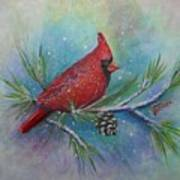 Cardinal And Delta Snow Art Print
