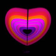 Cardinal Heart Art Print