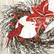 Cardinal Holiday I Art Print