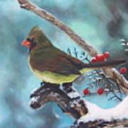 Cardinal Queen Art Print