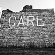 Care Graffiti Building Art Print