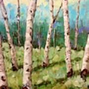Carefree Birches Art Print