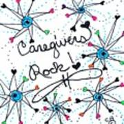 Caregivers Rock Art Print