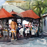 Caribbean Bar-theatre Barbados Style Art Print