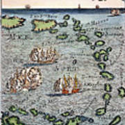 Caribbean Map Art Print