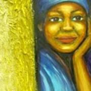 Caribbean Mystery Lady Art Print