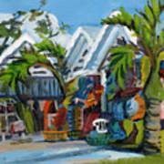 Caribbean Outdoor Market Art Print
