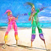 Caribbean Scenes - Moko Jumbie Art Print