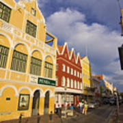 Caribbean Shopping District Art Print