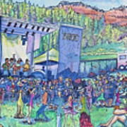 Caribou Mountain Collective At Yarmonygrass Art Print