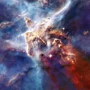 Carina Nebula Pillar Art Print