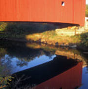 Carleton Covered Bridge Reflection Art Print