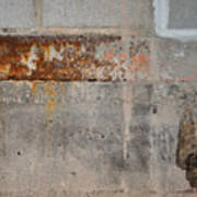 Carlton 16 Concrete Mortar And Rust Art Print