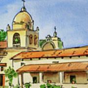 Carmel By The Sea - California Sketchbook Project  Art Print