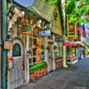 Carmel, Ca. The Shops Of Ocean Ave. Art Print