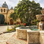 Carmel Church And Fountain Art Print