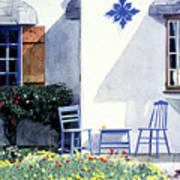 Carmel Cottage With Orange Art Print by David Lloyd Glover