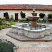Carmel Mission Courtyard Art Print