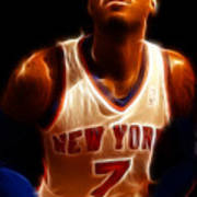 Carmelo Anthony - New York Nicks - Basketball - Mello Art Print by Lee Dos Santos