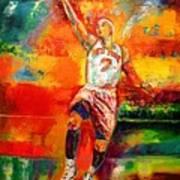 Carmelo Anthony New York Knicks Print by Leland Castro
