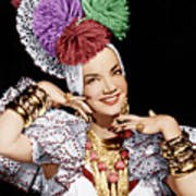 Carmen Miranda, Ca. 1940s Art Print by Everett