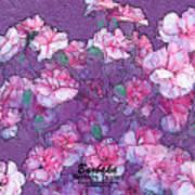 Carnation Inspired Art Art Print