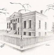 Carnegie Library Mitchell South Dakota Art Print