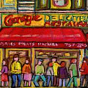 Carnegie's Deli Art Print
