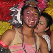 Carnival Faces Art Print