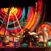 Carnival In Motion Art Print