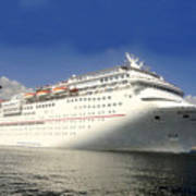 Carnival Inspiration Cruise Ship Art Print
