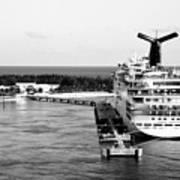 Carnival Sensation Cruise Ship - Grand Turk Island Art Print
