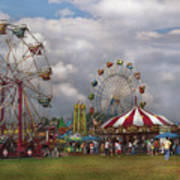 Carnival - Traveling Carnival Art Print by Mike Savad