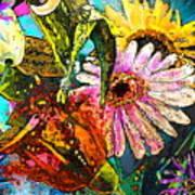 Carnivale Flori Art Print
